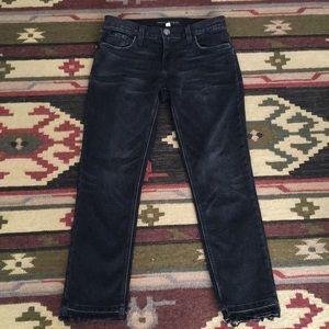 Current Elliott x Barney's New York cropped jean